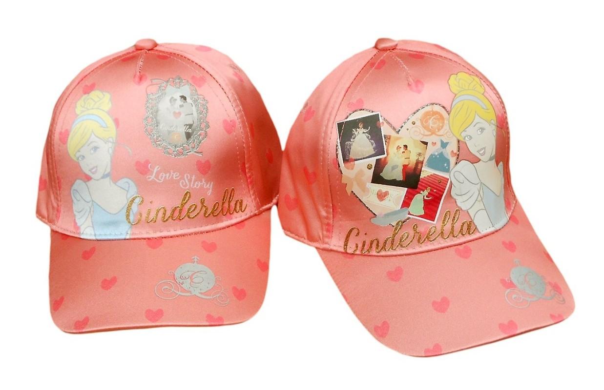 Dívčí kšiltovka se srdíčky Popelka / Cinderella