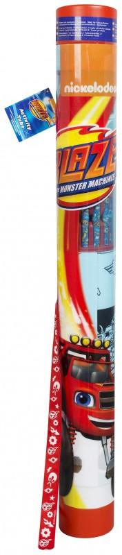 Tuba plná výtvarných potřeb Blaze and The Monster Machines / Plamínek a čtyřkoláci / 78 x 9 cm