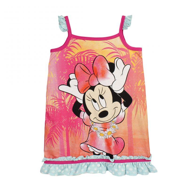 Dívčí šaty na ramínka s volánkem Myška Minnie / Minnie Mouse vel. 92 - 116 cm / vecizfilmu