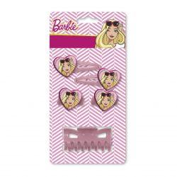 Klips a sponky do vlasů Barbie růžové