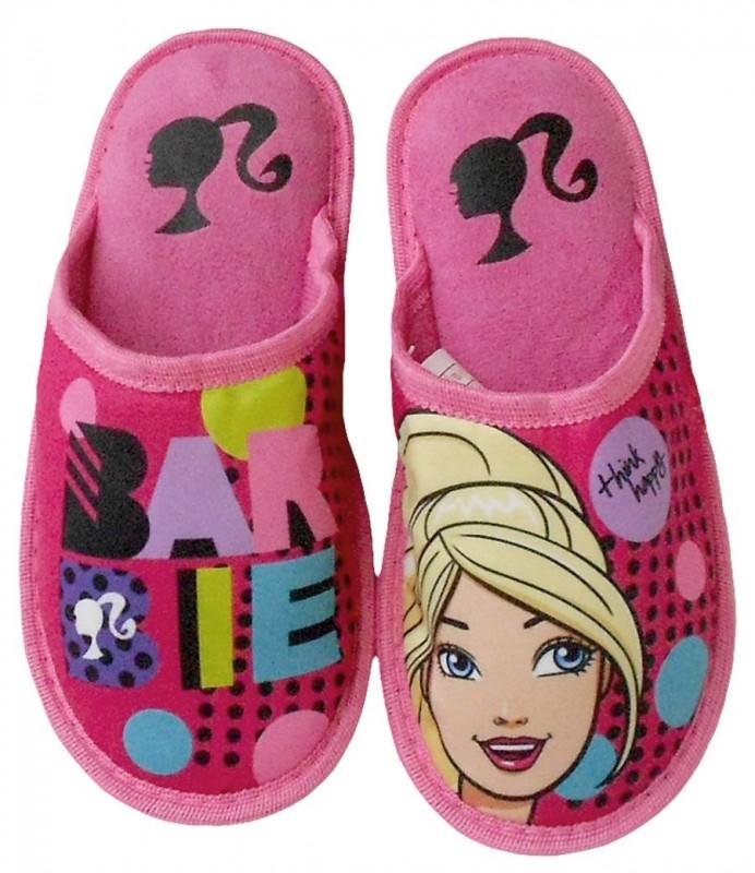 Dívčí domácí papuče Barbie růžové velikost 29 - 34 cm