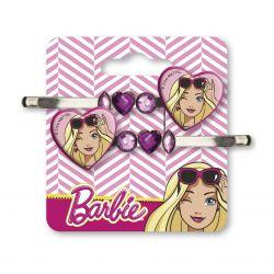 Sada 2 ks sponek s kamínky Barbie Srdce