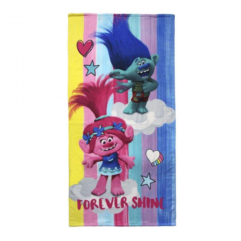 Bavlněná osuška Trollové / Trolls Poppy a Branch