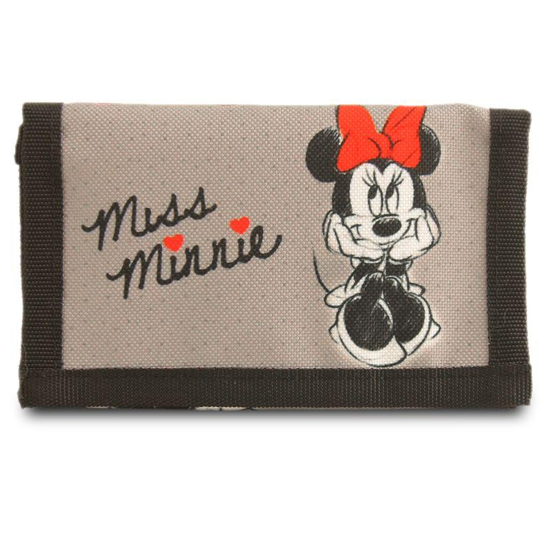 Dívčí rozkládací peněženka Minnie Mouse šedá