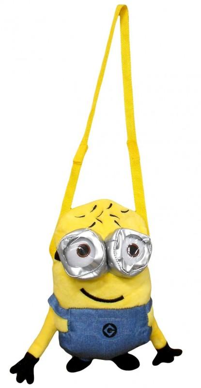 3D plyšová taška přes rameno Mimoni / Minions Smile