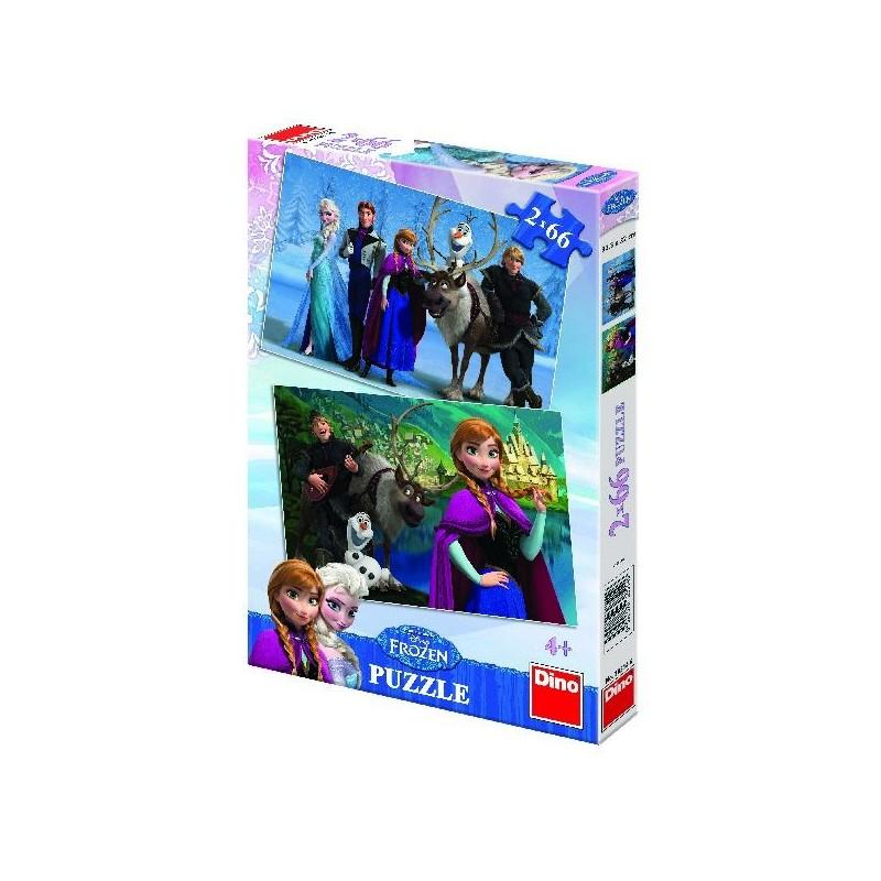 puzzle 2 x 66 FROZEN - Ledové království