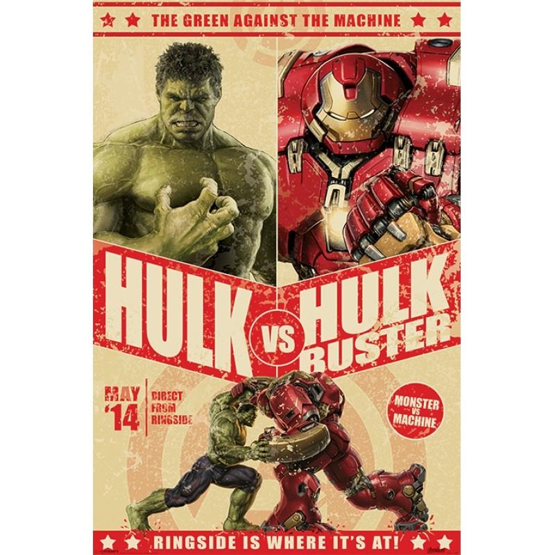 Plakát Avengers: Age Of Ultron / Hulk Vs Hulkbuster 61 x 91,5 cm