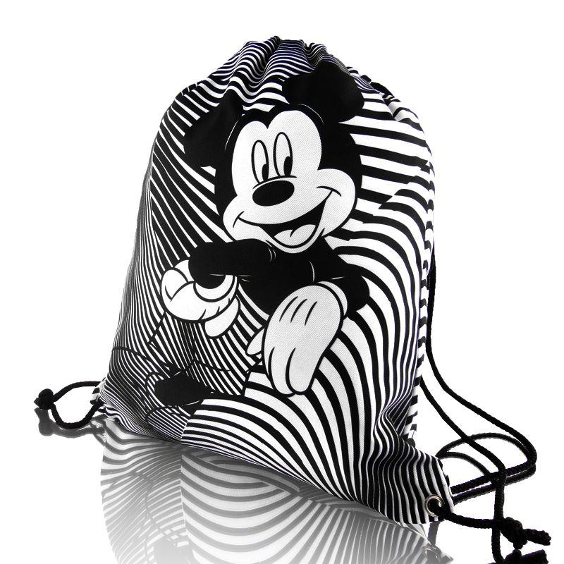 Taška / pytlík na přezůvky Mickey Mouse 35 x 40 cm černo / bílý