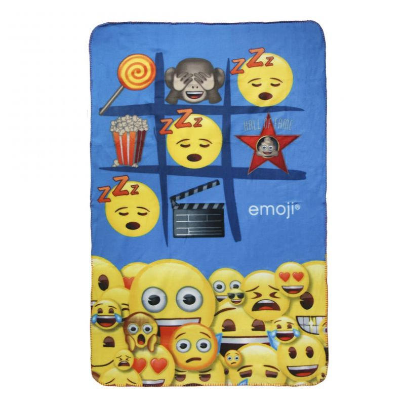Hebká fleecová deka Emoji / Smajlíci 100 x 150 cm