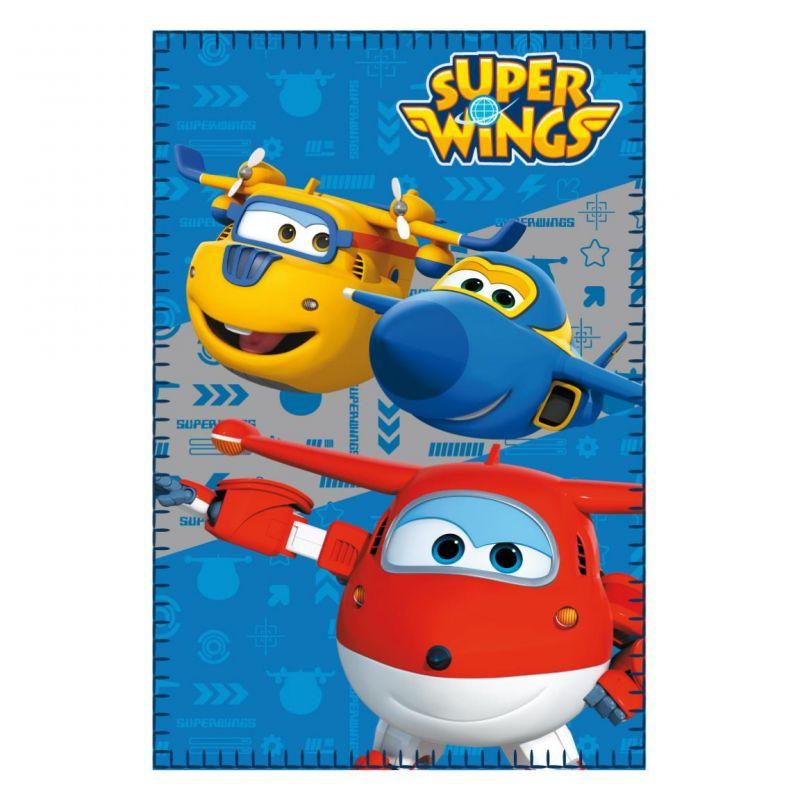 Dětská fleecová deka s oblíbenými letadly Super Wings 100 x 150 cm