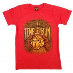Chlapecké tričko s krátkým rukávem červené velikost 7 / 8 let