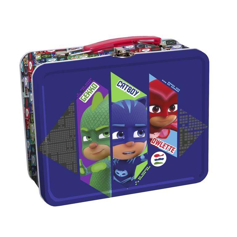 Kovový kufřík s úchytem PJ Masks 19 x 16 cm Greg / Amaya / Connor