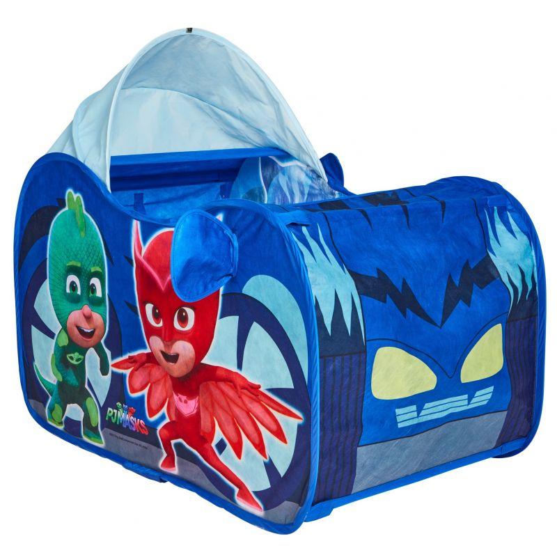 Dětský stan ve tvaru auta se střechou PJ Masks 102 x 60 x 62 cm Greg / Amaya / Connor