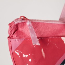 Plážová taška Paw Patrol Skye / Everest / Marshall  45 x 38 x 14 cm růžová lesk