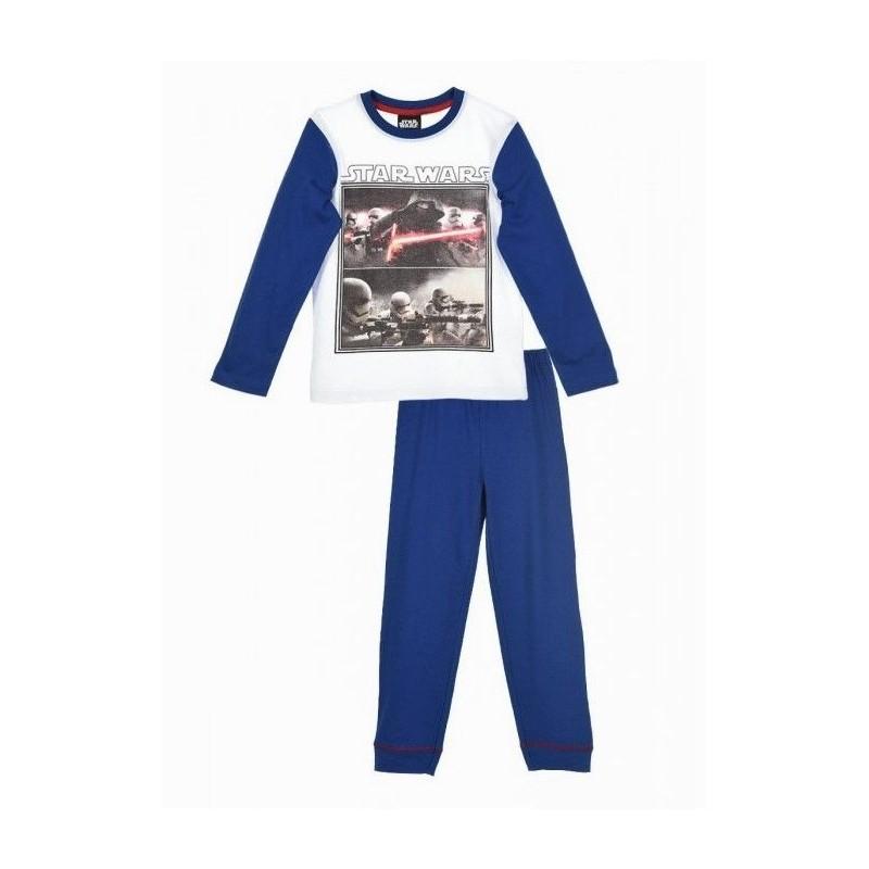 Chlapecké pyžamo modro / bílé Star Wars velikost 4 / 6 / 8 let