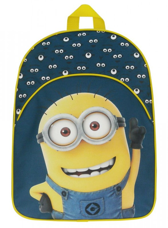 Dětský modro / žlutý  batoh Mimoni 39 x 29 x 11 cm / vecizfilmu