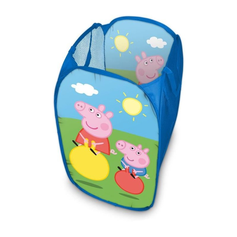 Skládací koš na hračky modrý Prasátko Peppa / Peppa Pig / 36 x 36 x 58 cm / vecizfilmu