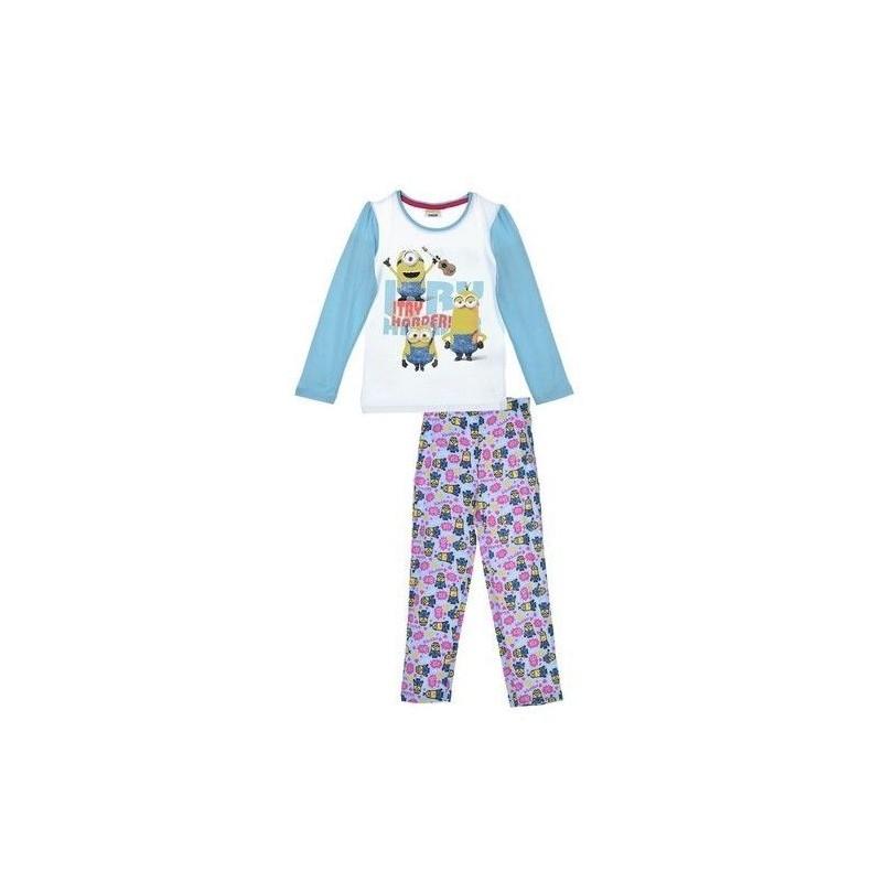 Dětské pyžamo s dlouhým rukávem Mimoni / bleděmodré velikost 3 / 4 / 6 / 8 let / vecizfilmu