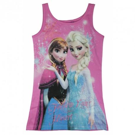 Dívčí růžové tílko Frozen / Ledové království Anna a Elsa vel. 104 - 134 cm