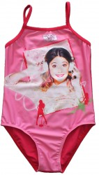 Dívčí jednodílné plavky Violetta růžové velikost 116 / 128 / 140 cm / vecizfilmu