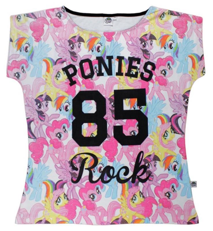 Dámské tričko s krátkým rukávem My Little Pony Rock velikost S / M / L / XL