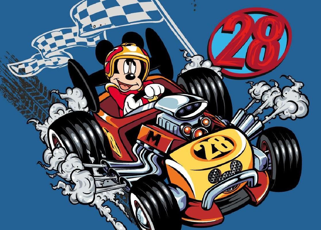 Koberec do chlapeckého pokoje Mickey Mouse Formule 95 x 133 cm
