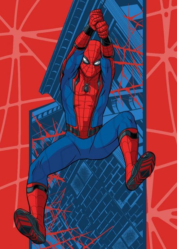 Koberec do chlapeckého pokoje Spiderman Pavučina 95 x 133 cm