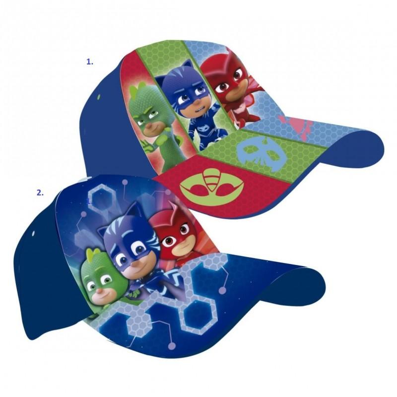 Chlapecká kšiltovka s hrdiny PJ Masks Greg   Amaya   Connor modrá vel. 53 cm ed149918a4