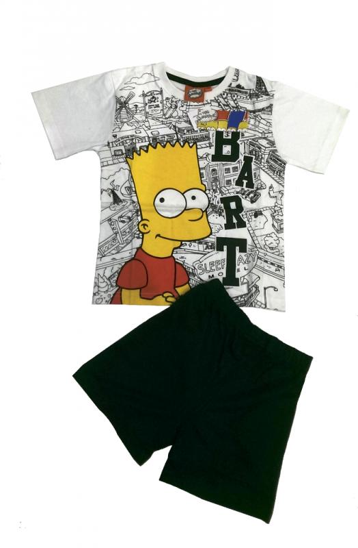 Chlapecký set oblečení tričko a kraťasy Bart Simpson vel. 6 let