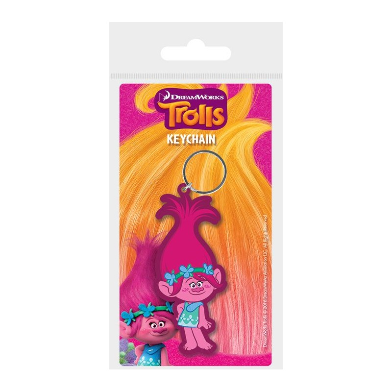 Gumový přívěšek Trollové / Trolls Poppy 6 cm