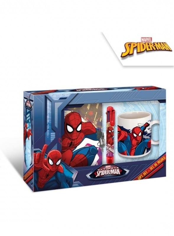 Set Spiderman / diář, vícebarevná tužka, keramický hrnek