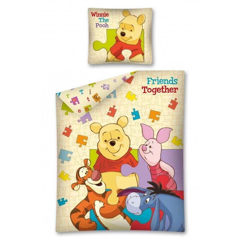 Dětské povlečení Medvídek Pú / Winnie The Pooh 70 x 80 cm a 140 x 200 cm