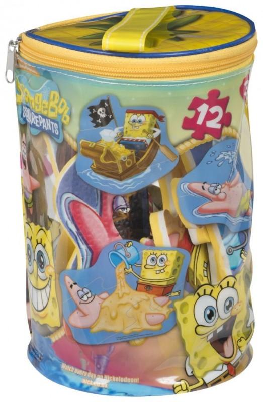 Pěnové puzzle Sponge Bob v pouzdře na zip