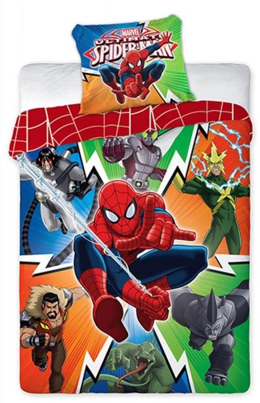 Dětské povlečení Spiderman a hrdinové 70 x 80 cm a 160 x 200 cm