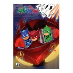 Omalovánka A4 PJ Masks Greg / Amaya / Connor 16 stran / vecizfilmu