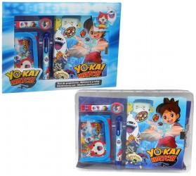 Sada digitální hodinky / peněženka / propiska a diář Yo-Kai Watch / vecizfilmu