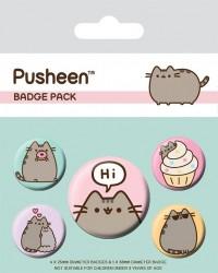 Odznaky Pusheen / Pusheen Says Hi / vecizfilmu