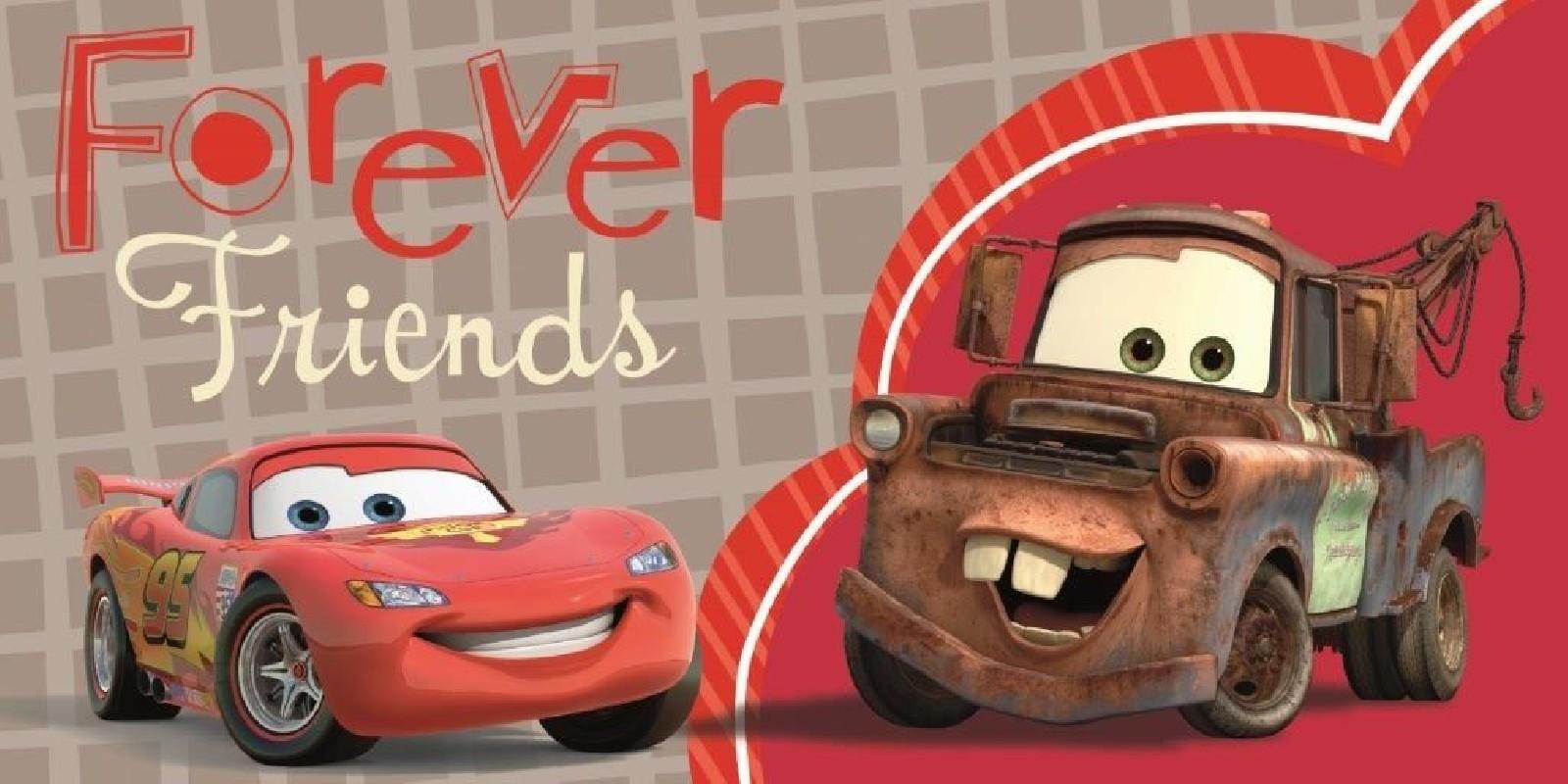 Plážová osuška Cars / Auta / Forever Friends / 70x140cm / vecizfilmu