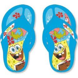 Letní žabky modré Spongebob velikost 28 - 35 / vecizfilmu