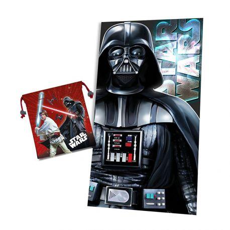 Ručník a pytlík Star Wars Darth Vader 70 x 140 cm a 22 x 24 cm / vecizfilmu