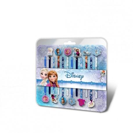 Sada Frozen / Ledové království tužky s gumou 12 ks Anna a Elsa / vecizfilmu