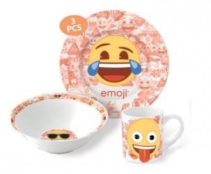 Keramická sada nádobí Smajlíci / Emoji talíř / miska / hrnek / vecizfilmu