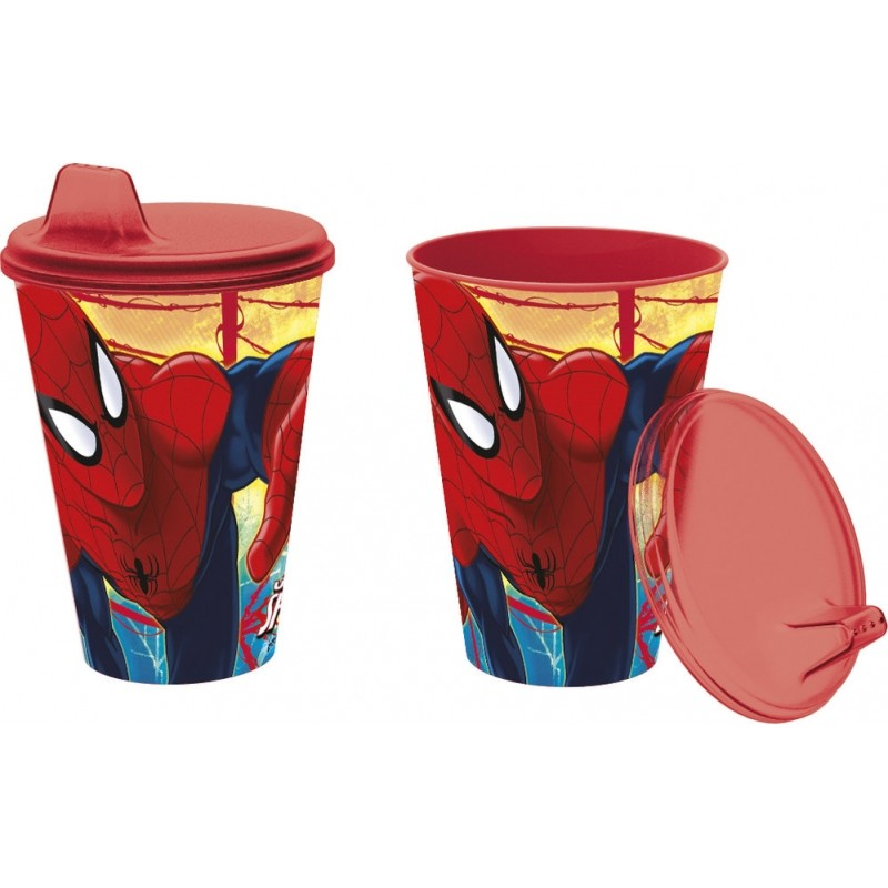 Kelímek s pítkem pro děti Spiderman / 430 Ml