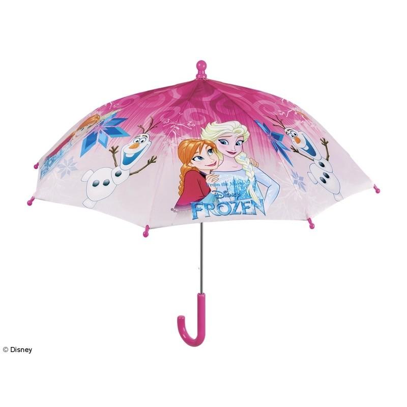 Dívčí manuální deštník Frozen / růžový / 38 cm