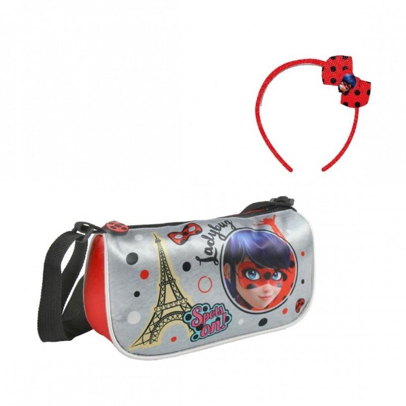 Dívčí kabelka s čelenkou Miraculous Ladybug / Zázračná Beruška 20 x 12 x 5 cm / vecizfilmu
