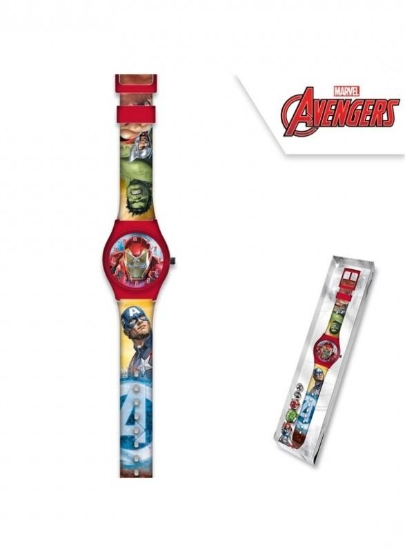 Dětské analogové hodinky v krabičce Avengers / veci z filmu