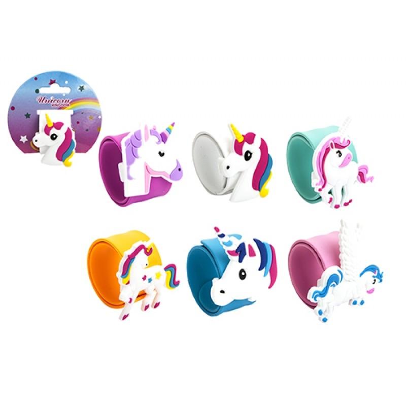 Dívčí silikonový náramek s hlavou Jednorožce / Unicorn / veci z filmu