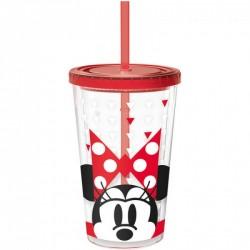 Pohárek s brčkem Minnie Mouse / Ice koffe / 450 ml / veci z filmu