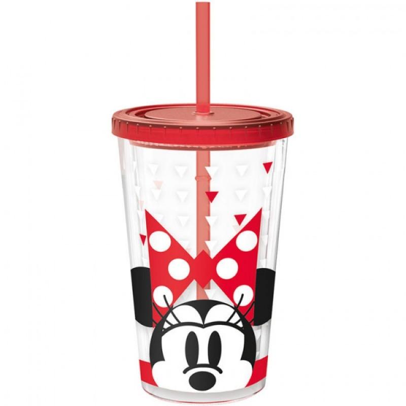 Pohárek s brčkem Minnie Mouse / Ice koffe / 450 ml
