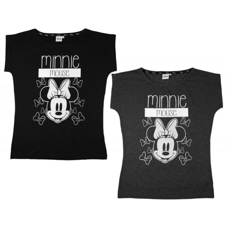 Dámské černé tričko Minnie Mouse / velikost S - XL